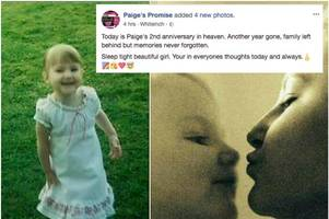 'sleep tight beautiful girl' mum of murdered paige doherty shares adorable childhood pictures on second anniversary of her death
