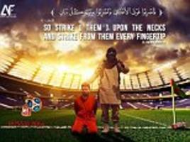 world cup 18: lionel messi targeted in isis' execution-style poster