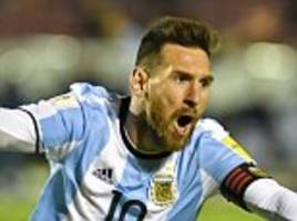 argentina have been slammed for being 'friends of lionel messi'