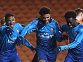 blackpool u18 2-2 arsenal u18: fa youth cup semi first leg drawn