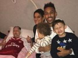 pierre-emerick aubameyang pays heartfelt tribute to late grandmother