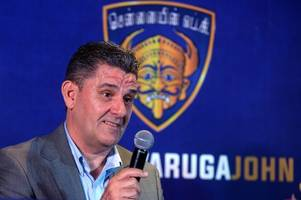 former derby county player and manager john gregory celebrates winning indian super league title