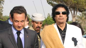 Ex-French leader held over Gaddafi funding