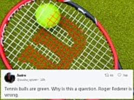 are tennis balls yellow or green? new colour debate rages