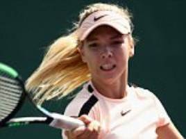 britain suffers first casualty at miami open as katie boulter loses