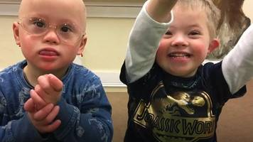 Two three-year-old-boys, one special friendship