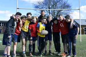 chiefs kick-off 12-week 'project rugby' initiative at tiverton high school