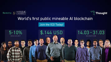 thought, the world's first public mineable ai blockchain, launches ico