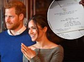 meghan and harry's wedding invites have been printed and sent out