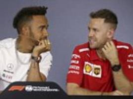 lewis hamilton and sebastian vettel bury hatchet ahead of f1 season