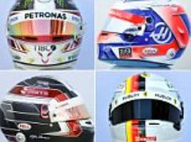 the stunning new helmets of formula one 2018