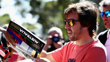 australia will be 'lowest level' but alonso promises improvement