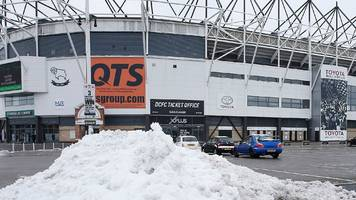 derby correct to call off cardiff match - efl
