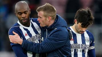 west brom: players cried after bournemouth defeat - jonny evans