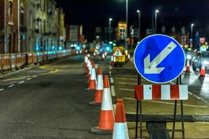Roadworks delayed by snow will take place on A4 London Road in Bath road this weekend