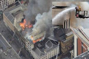 Devastating aerial footage of Glasgow Sauchiehall Street fire released by police