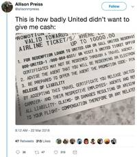 united actually offered someone a $10,000 voucher for giving up her seat — and she live-tweeted the whole ordeal (ual)