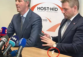 New Slovakia PM Drops A Bag Of Cocaine During A Press Conference