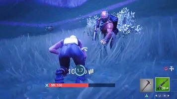 Fortnite hero revives a stranger four times while running through the storm