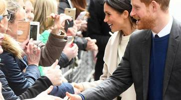 royal dazzler: meghan and harry vow crowds on first trip to northern ireland