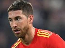 sergio ramos thanks managers, team-mates and fans as he reaches milestone of 150 spain caps