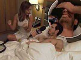 geri horner climbs into bed with andy murray for sport relief