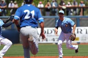 split decision: rays fall to orioles, beat blue jays in spring training