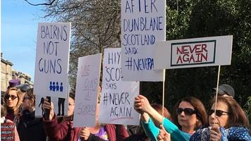 dunblane families join us gun law protest in edinburgh