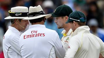 South Africa v Australia: Cameron Bancroft spoken to by umpires about object in pocket