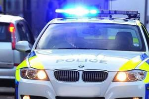 Police officers injured as white van they pulled over rams their car