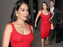 nikki bella wows as she goes for a romantic dinner with fiancé john cena
