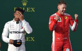 hamilton blames mercedes after vettel wins opener in australia