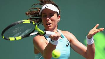 defending champion konta loses to williams at miami open