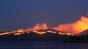 crews use water bombs for major wildfire on isle of rum