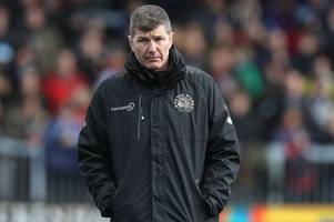 exeter chiefs vs gloucester: rob baxter says anglo-welsh cup players have played their way into contention
