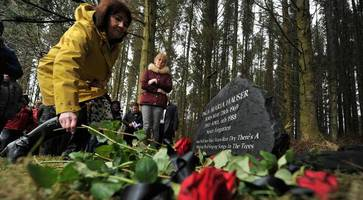 emotional scenes as inga maria hauser memorial unveiled at forest burial spot