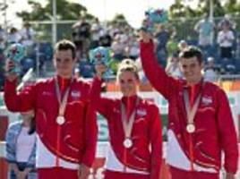brownlee brothers win silver in commonwealth games team triathlon
