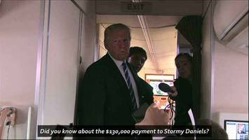 Caught on Camera: Trump Denies All Knowledge of Paying $130,000 to Stormy Daniels