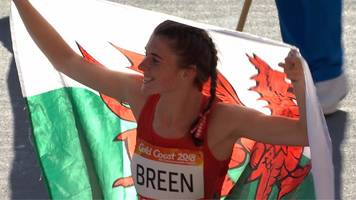 commonwealth games: wales' olivia breen wins gold with t38 long jump record