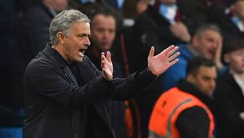 josé mourinho reportedly targeted by coin thrower during manchester derby