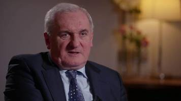 ex-taoiseach bertie ahern: people would 'pull down' irish border