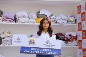 bhumi pednekar celebrates the success of holi clothes collection drive by tide plus extra power and goonj