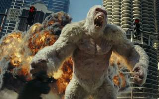 videogame movie rampage is predictably dumb, but lots of fun