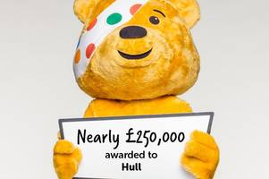 children in need hand hull charities slice of £250,000 pot