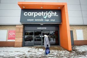 Carpetright to close 13 Scottish stores as workers face axe in £60m restructuring