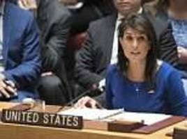 nikki haley declares the us ready to act if there are more chemical attacks