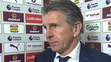 burnley 2-1 leicester: foxes defeat hard to accept - claude puel