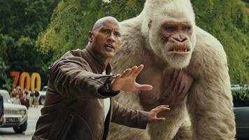 'rampage' barely takes the top box-office spot on crowded weekend