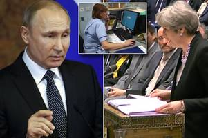 britain braces for putin's 'dirty cyber war' in retaliation for syria air strikes with russian hackers targeting vips and uk infrastructure