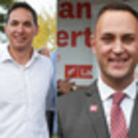Labour's Shanan Halbert and National's Dan Bidois ready to do battle for Northcote